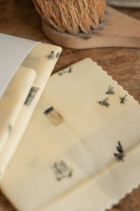 Apiary Made Illustrated: Assorted Three Pack Beeswax Wraps