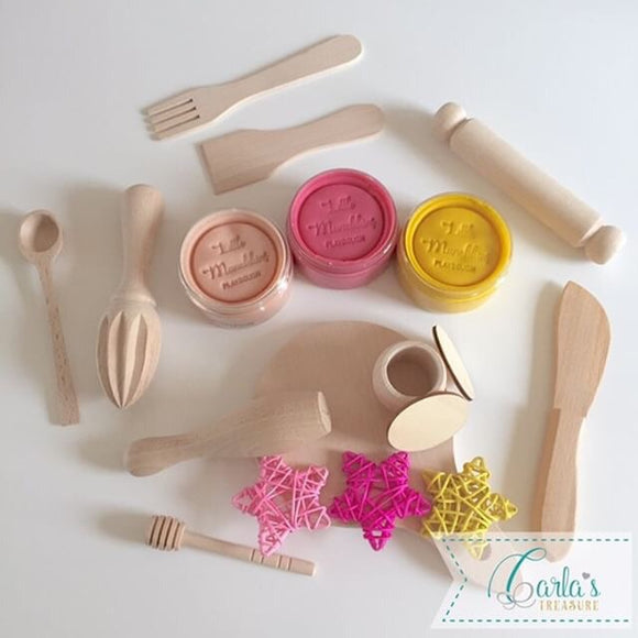 Playdough and playdough tools
