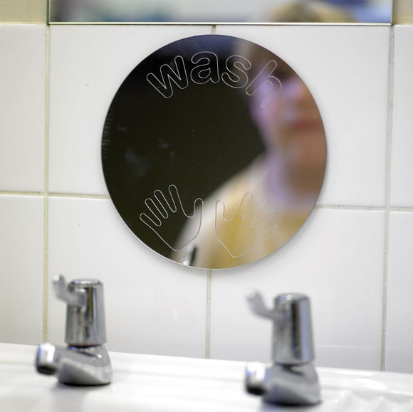 Wash Hands Mirror