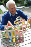 Rainbow Block Set / Creative acrylic building blocks / 24 pcs