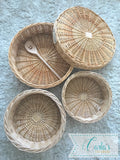 Natural willow baskets / wicker trays / Montessori baskets