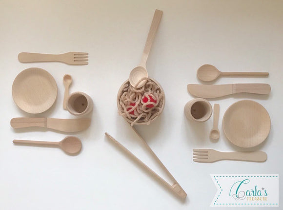 Children's Wooden Dinner Play Set