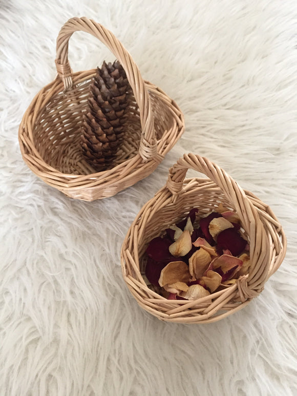 Mini Willow Baskets with Handle / Shopping Wicker Basket