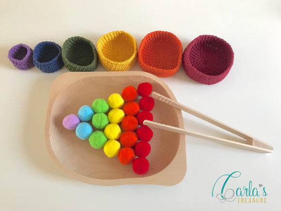Rainbow Pom-poms Sorting Activity Set 2