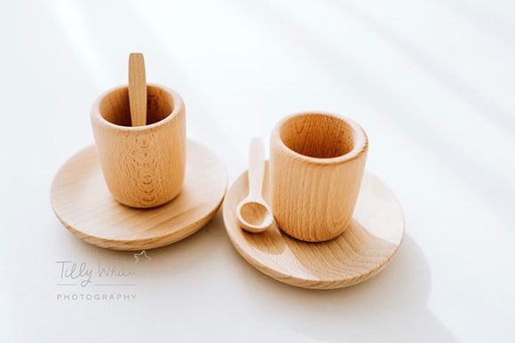 Babyccino / Tea Natural Montessori play set