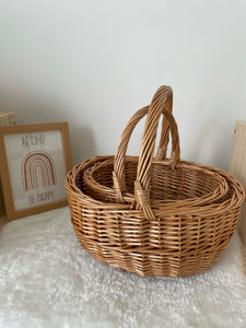 Willow Baskets with Handle / Shopping Wicker Basket
