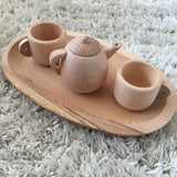 Small wooden tea set + tray, Outlet/Clearance Collection