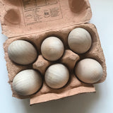 Wooden eggs - Set of 6 / Outlet