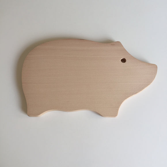 Pig Shaped Wooden Board