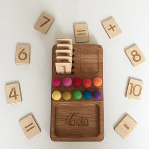 Small Wooden Reversible Mathematical Board