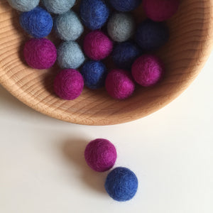 Cool Felted Balls 20mm