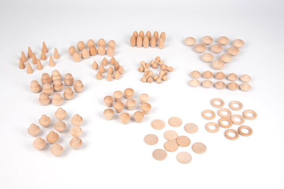 Wooden treasures natural set - 120pcs