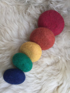 Rainbow Stacking Felted Pebbles