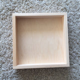 Wooden tray / flat open box 2