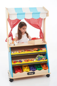 Two in One Wooden Play Shop and Theatre (2in1)