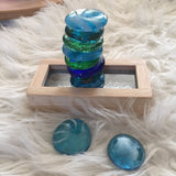 Glass Coloured Counters / Pebbles / Stones - Set of 10