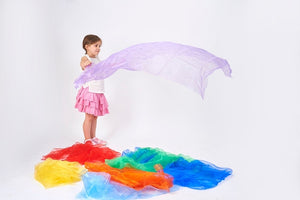 Rainbow Organza Fabric Pack of 7