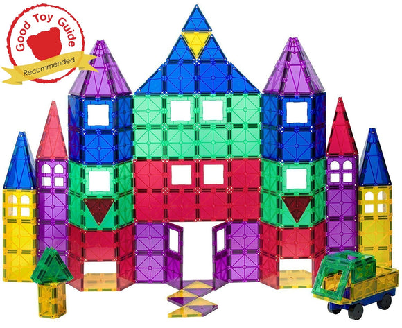 Playmags 100 Piece Set: Now With Stronger Magnets, Sturdy,Super Durable With Vivid Clear Color Tiles. 18 Piece Clickins Accessories To Enhance Your Creativity