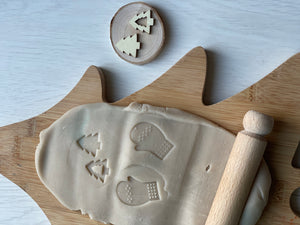 Handmade Christmas / Winter playdough stamps