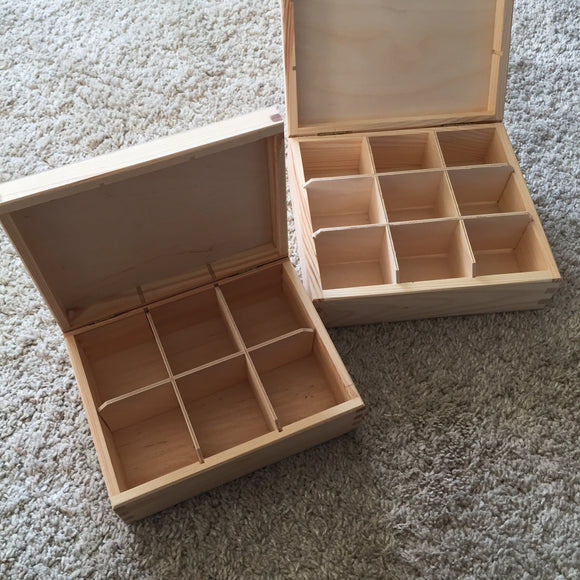 Tinker tray with lid / 6, 9, 12 compartments