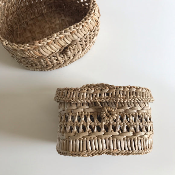 Braided Basket with Lid