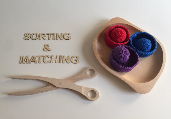 Crochet Bowls with Matching Balls Set