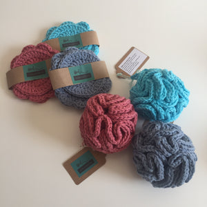Eco-friendly body puffs and trio facial cloths
