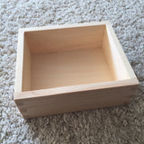 Wooden tray / open box