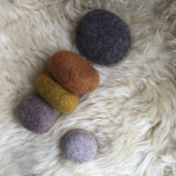 Brown-Grey Stacking Felted Pebbles