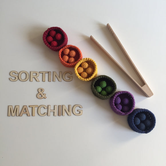 Matching and Sorting Crochet Activity Set 7