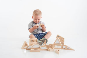 Mirror Block Set /  wooden building blocks / 24 pcs