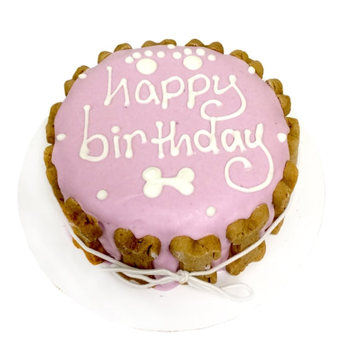 We sell birthday cakes for dogs