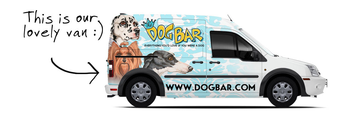Dog Bar Pet Food Delivery Van