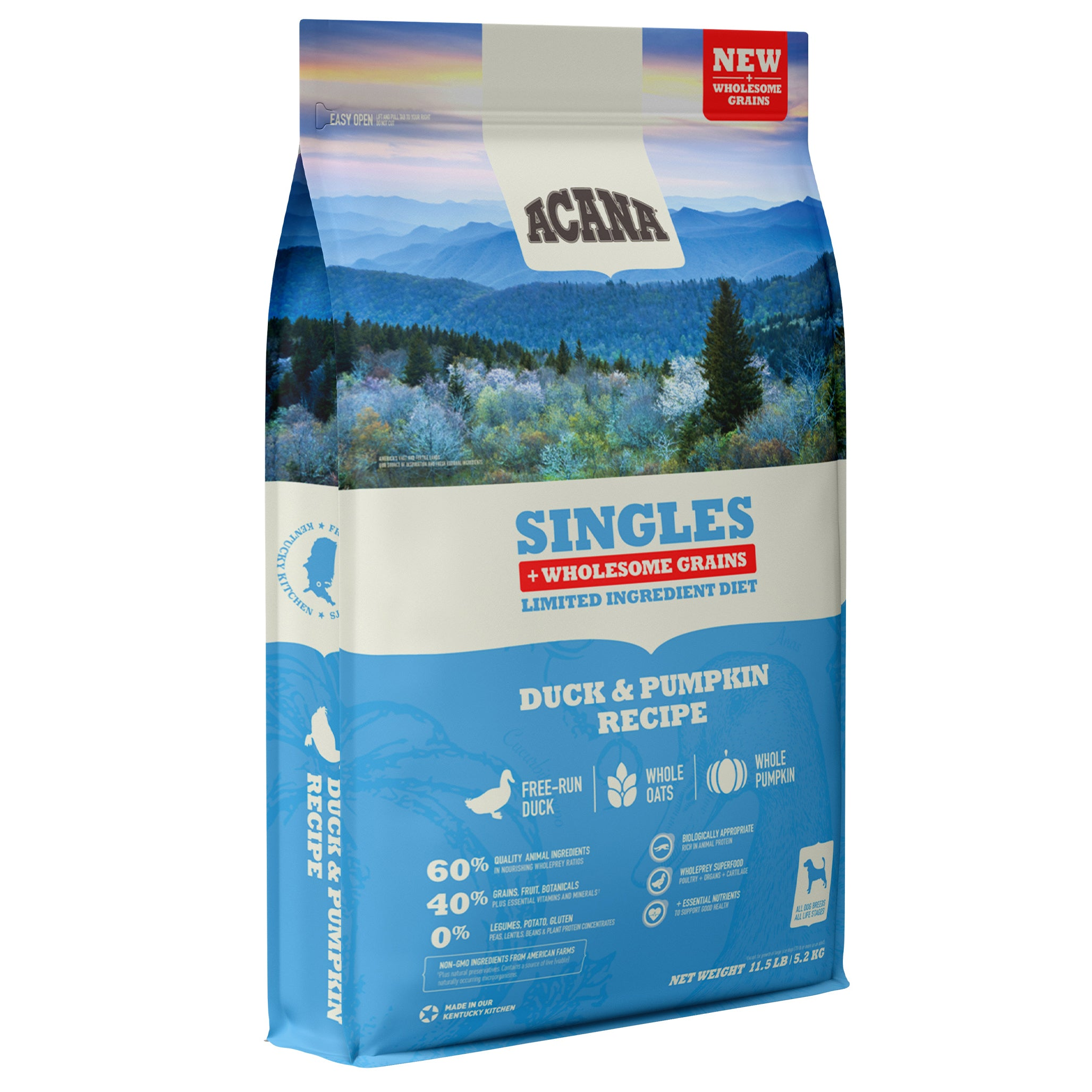 Acana Singles Duck and Pumpkin Dry Dog Food