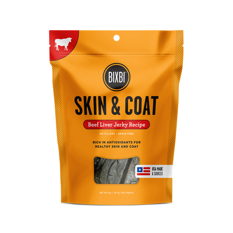 Bixbi Jerky for Skin & Coat Dog Treats