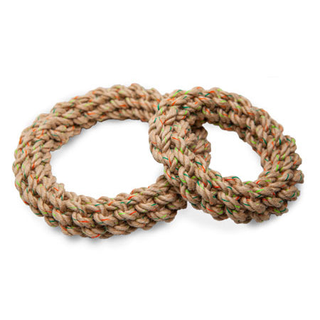 Hemp Rope Braided Ring Toys