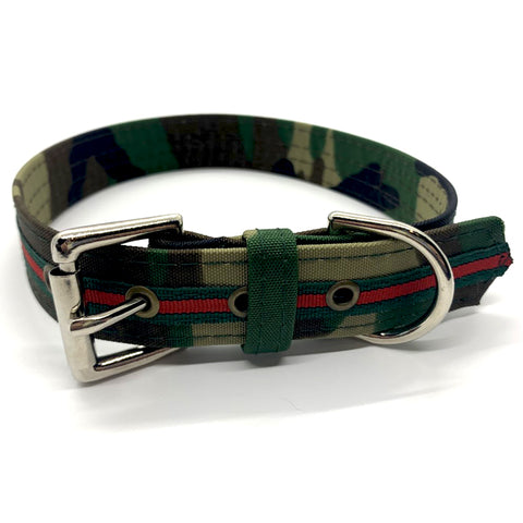 Dog Bar Camo Designer Inspired Adjustable Collar