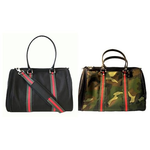 Designer Inspired Duffel Dog Tote