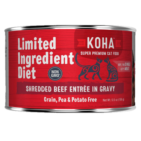 Koha Limited Ingredient Diet Shredded Canned Cat Food
