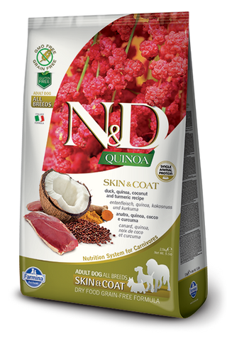 Farmina N&D Quinoa Skin and Coat Duck for Adults Dry Dog Food