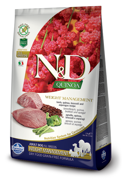 Farmina N&D Quinoa Weight Management Lamb for Adults Dry Dog Food