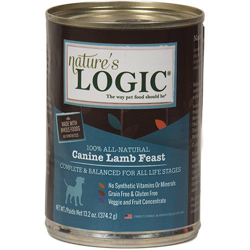 Nature's Logic Lamb Canned Dog Food