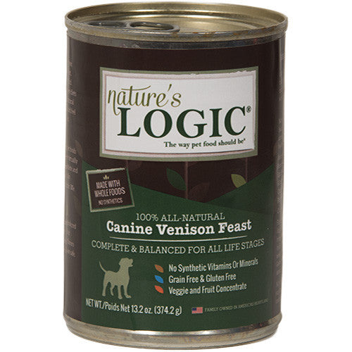 Nature's Logic Venison Canned Dog Food