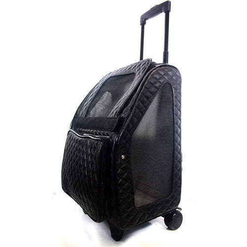 Quilted Luxe Rio Pet Carrier On Wheels