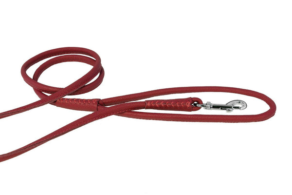 Super Soft Leather Rolled Round Leashes