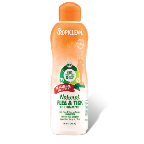 Tropiclean Maximum Strength Natural Flea & Tick Shampoo