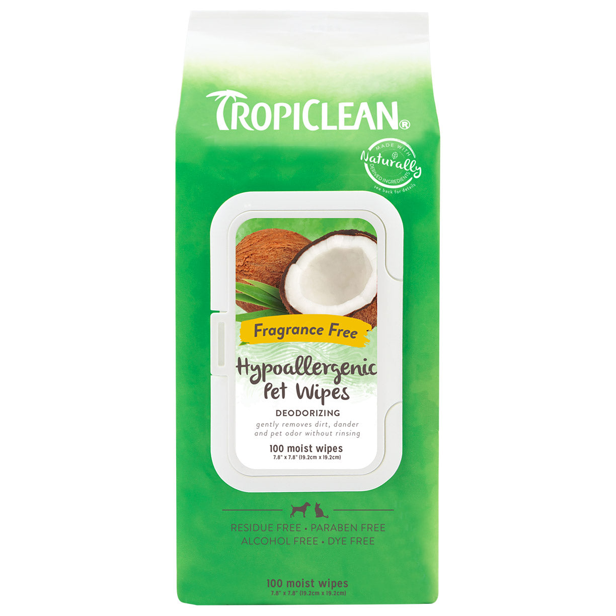 Tropiclean Hypo-Allergenic Wipes