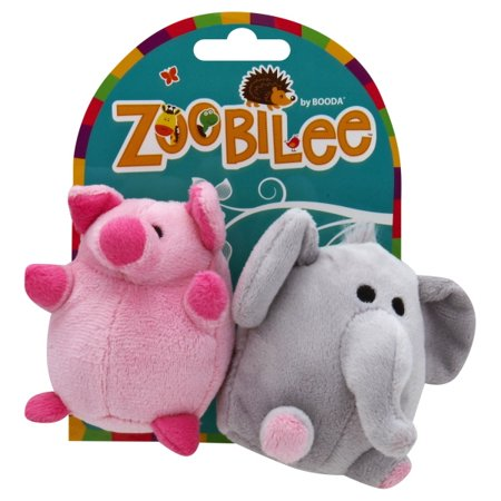 Zoobilee Mini Elephant & Pig Plush Toys