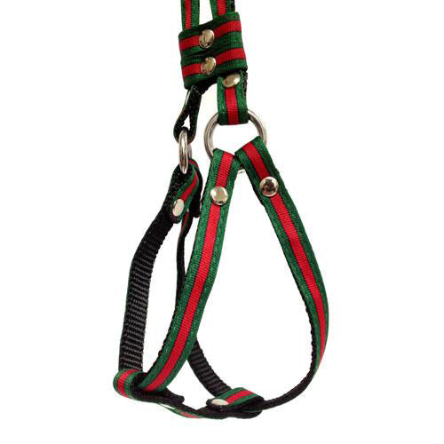 Dog Bar Designer Inspired Step-In Harness w/ Leash