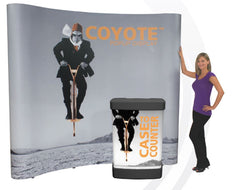 10' Coyote Traditional Curved Popup with Graphic End Panels